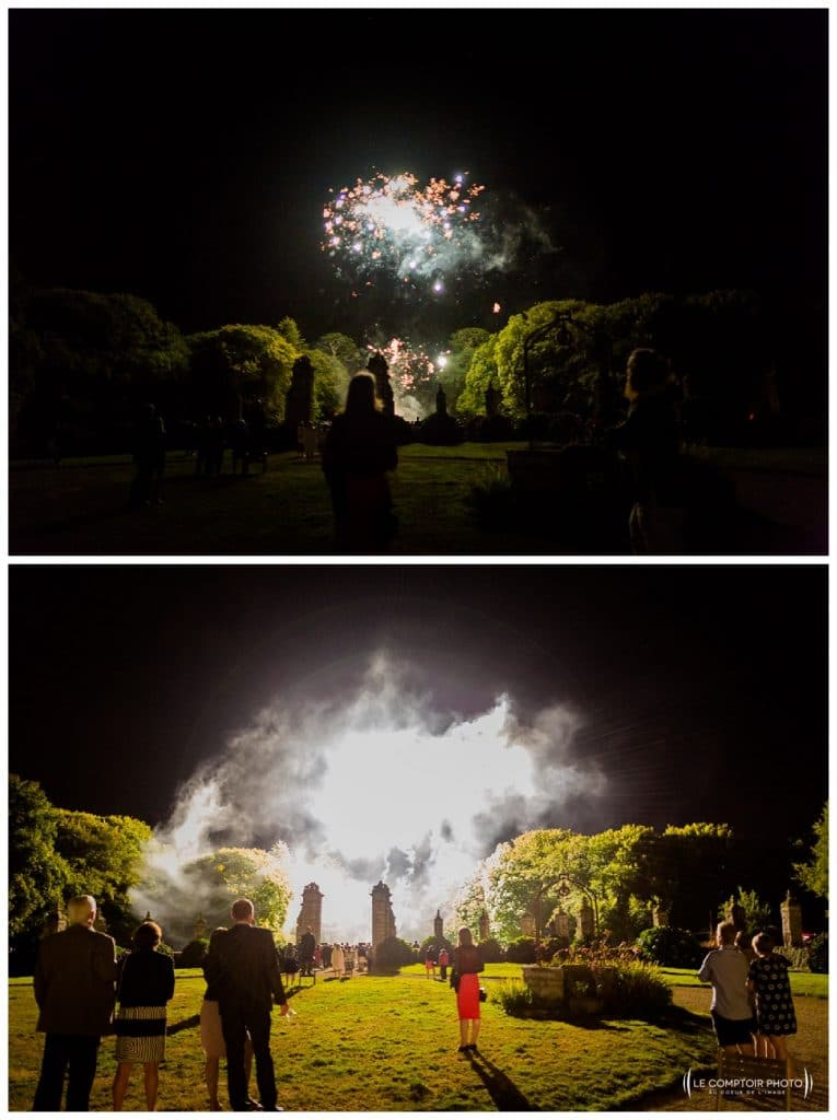 reportage mariage-chateau guilguiffin-bretagne-wedding in brittany-finistere-photographe saint brieuc côtes d'armor-le comptoir photo-feu d'artifice-surprise