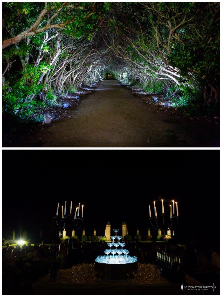 reportage mariage-chateau guilguiffin-bretagne-wedding in brittany-finistere-photographe saint brieuc côtes d'armor-le comptoir photo-allée-foret-lieu de réception-fontaine champagne