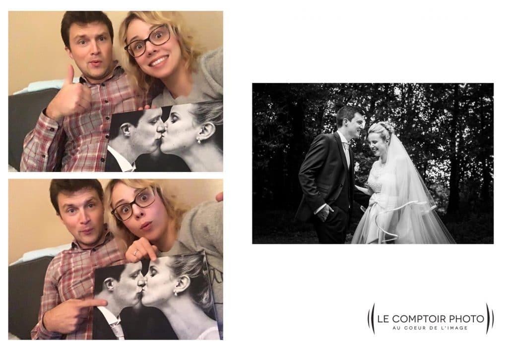 Après réception du livre album - des mariés heureux