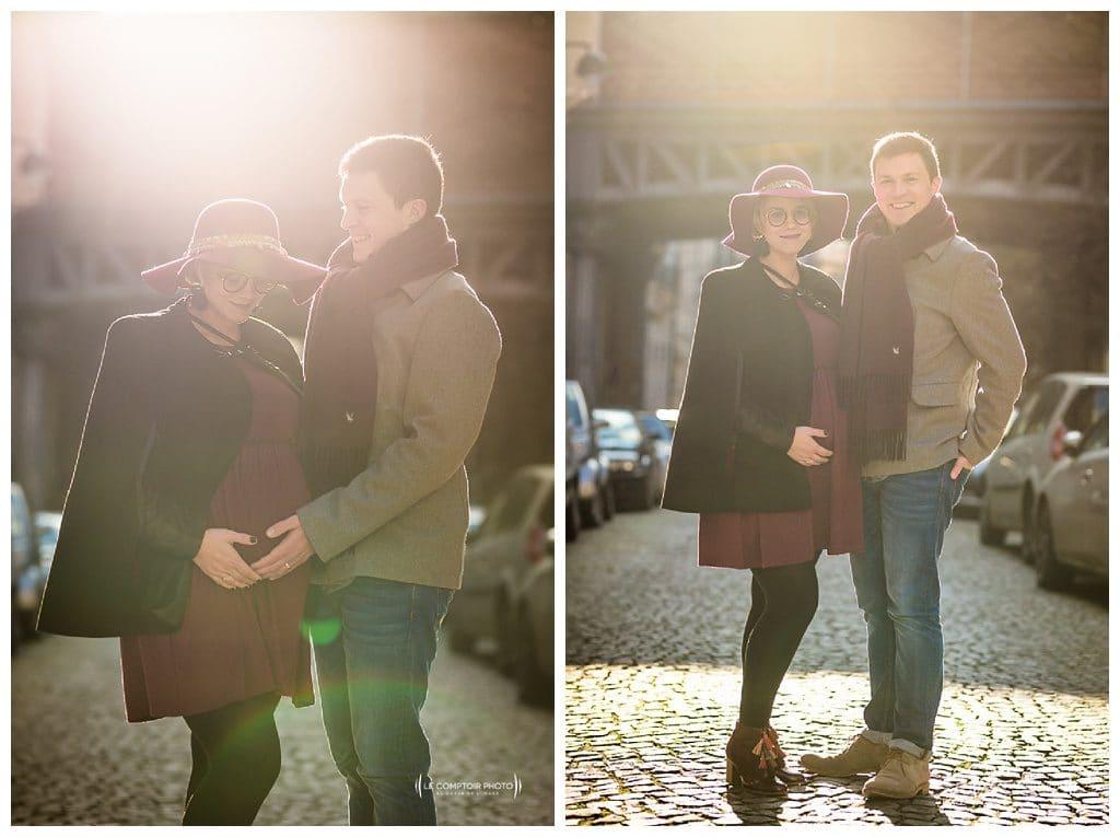 photographe shooting photo grossesse seance photo grossesse couple - le comptoir photo - photographe saint brieuc - bretagne