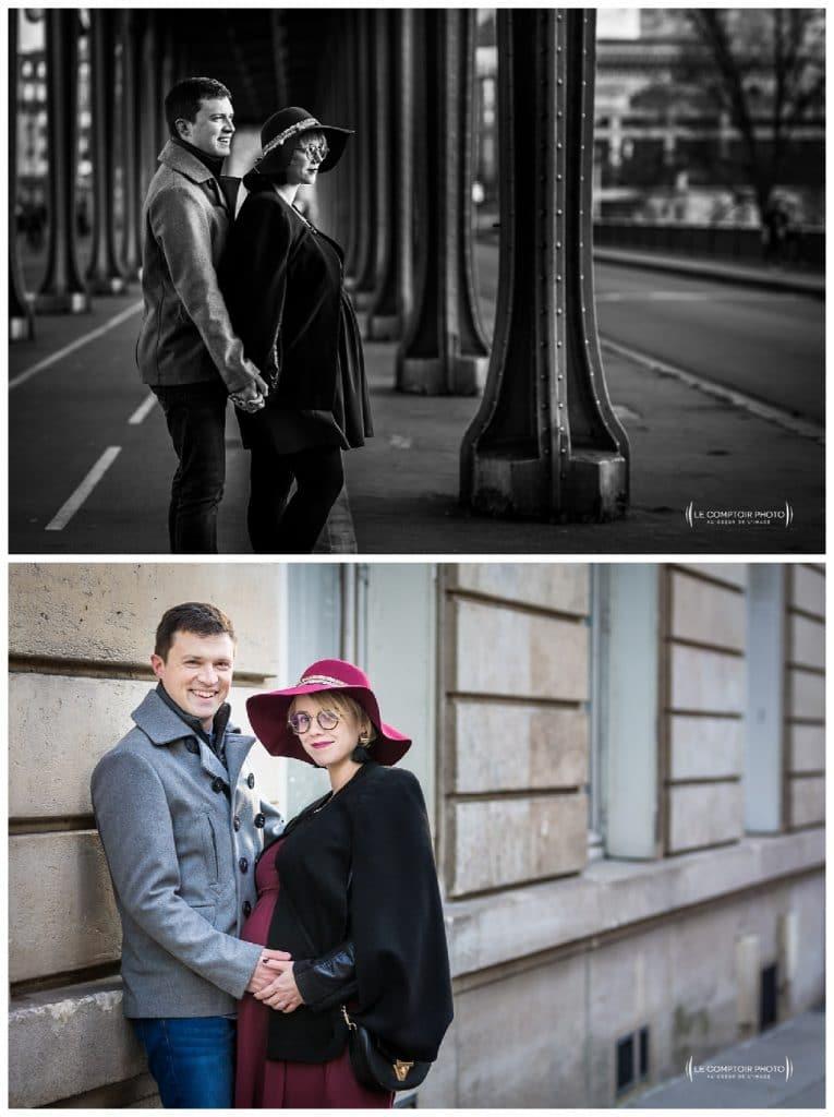PORTRAIT couple grossesse-Paris-photographe grossesse paris beauvais oise saint brieuc-Le Comptoir Photo-30