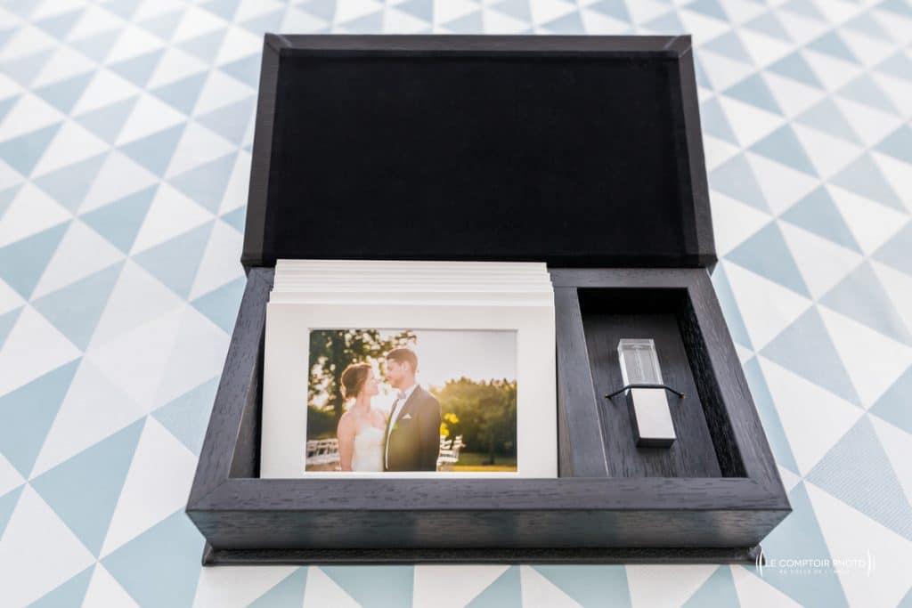 Coffret ecrin clé usb - photographe mariage bretagne - le comptoir photo