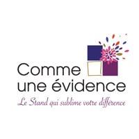 logo Comme une evidence_Concepteur de stand_Le Comptoir Photo_Beauvais_Oise