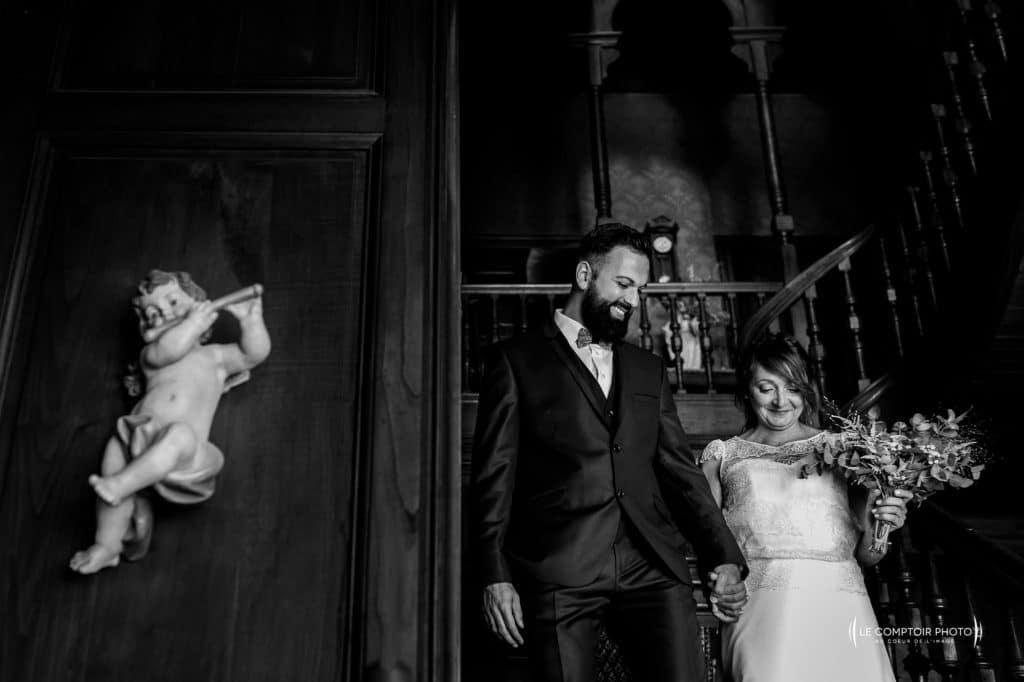 Photographe de mariage en bretagne-à vannes-lorient-morbihan- découverte des mariés-Le Comptoir Photo