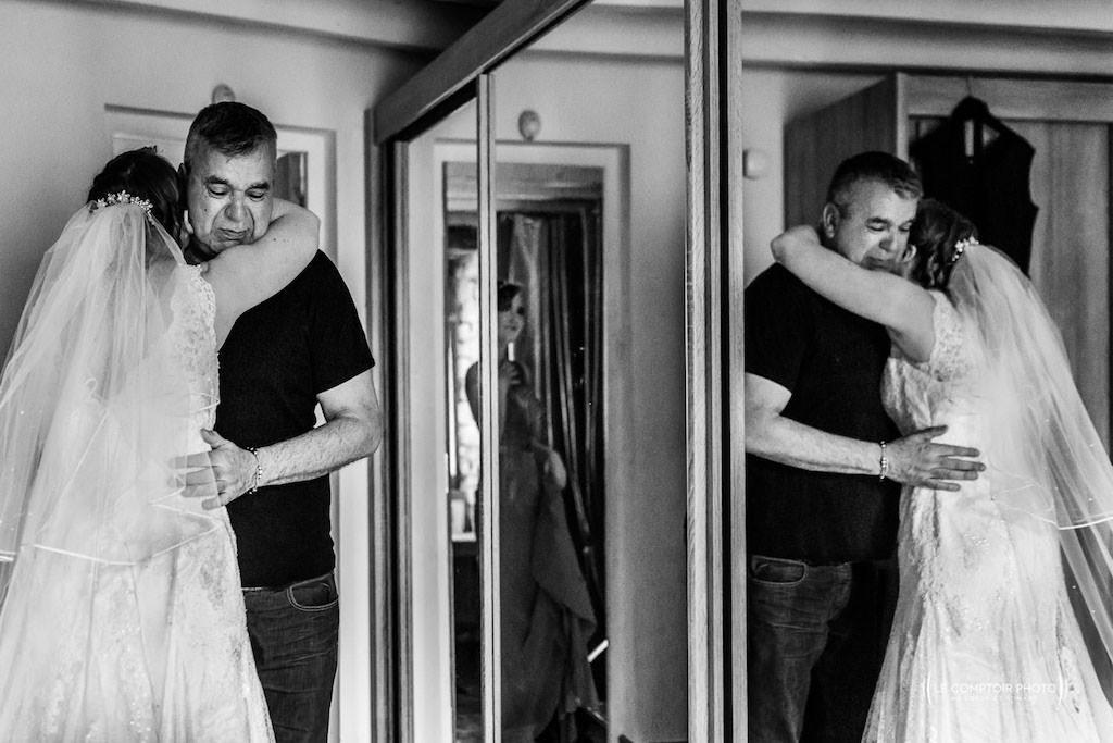 embrassade - joie - photographe mariage brest - finistere