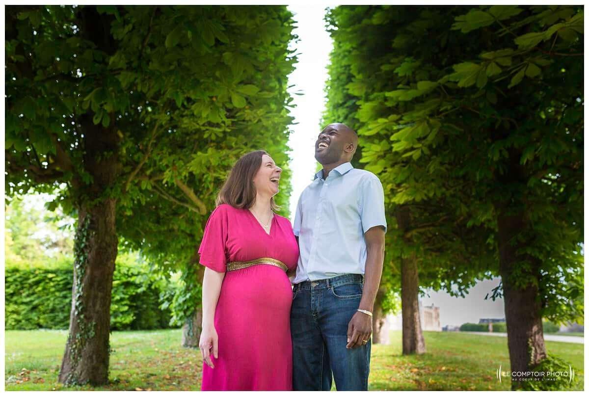 Seance portrait grossesse-couple A&O - Chateau- Saint Germain en Laye - Le Comptoir Photo-Photographe mariage portrait oise beauvais-6