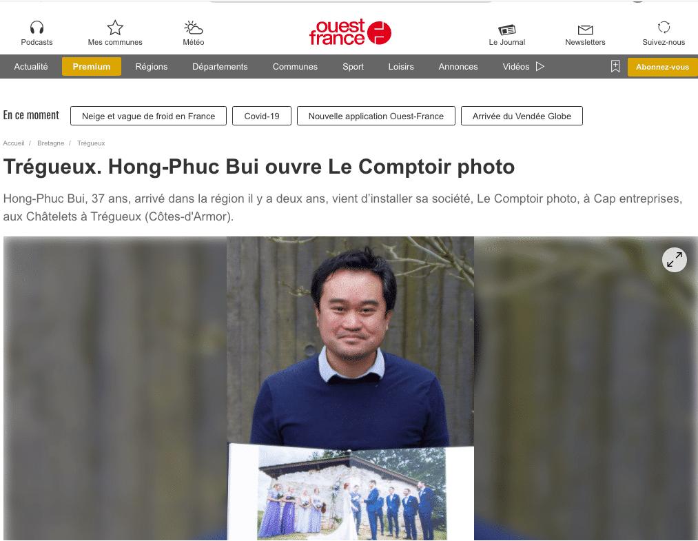 Publication-Ouest-France-Hong-Phuc-BUI-Le-Comptoir-Photo-photographe-professionnel-bretagne-saint-brieuc-rennes-vannes-lorient-brest-quimper
